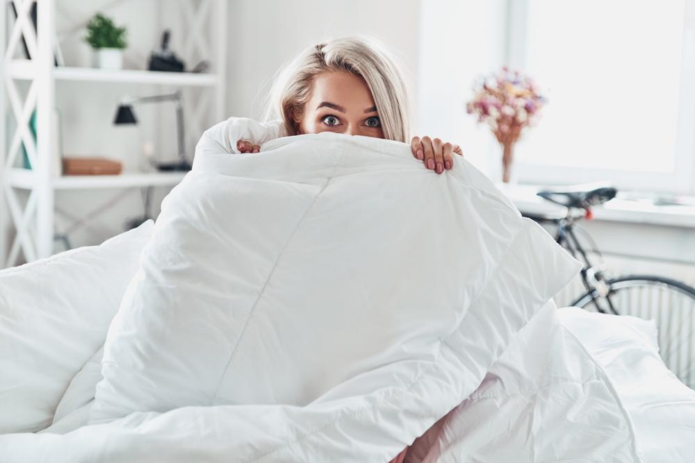 warm slapen met een dekbed